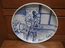 Piatto ceramica BUON NATALE  dipinto a mano 1980 babbo