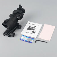 1x32 Green Red Dot Sight Hunting Rifle Scope Tactical w/ 20mm Weaver Rail Mount