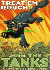 """WWII -  ( Join the Tanks ) 11"""" x 17"""" Collector's Poster Print - B2G1F"""