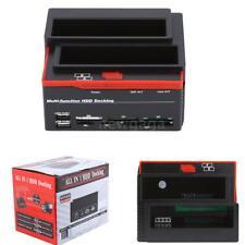 """USB 2.5''/3.5"""" SATA IDE HDD Docking Station Klon Dual Festplatten Gehäuse Dock"""