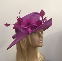 New Crocus Women's Sinamay Wedding Hat Mother Of The Bride/Groom Ascot Races