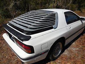 LRB Speed 86-91 RX7 Louvers aluminum hatch shades slats FC RX-7 Savanna Mazda