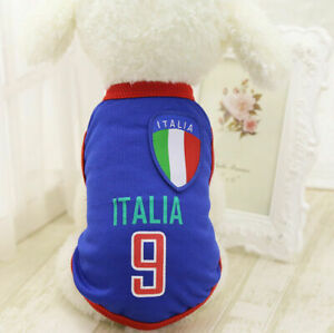 M DarkBlue Summer Pets Clothes Vest Coat T Shirt Jacket Clothing For Dogs Cats