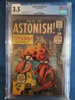 Tales to Astonish #10 CGC 3.5 (1960) -- Jack Kirby Art Titano Atlas Comic Graded