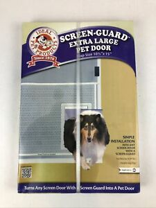 """Pet Door For Screen Door  Extra Large White 1.25"""" x 13.62"""" x 19"""""""