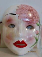 "Porcelain Ceramic Decorative Face Mask Wall Hanging 7"""