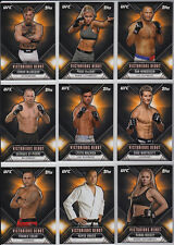 2015 Topps UFC Chronicles Victorious Debut Insert Set (25 Cards) Conor McGregor