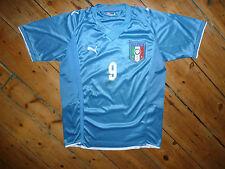 Toni #9 + Italia Away Camicia XL PUMA 2010 JERSEY TRIKOT CAMISETA MAILLOT maglla