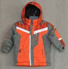 Kids' Obermeyer Ski Jacket Orange Gray Size 4