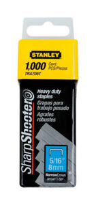 Stanley TRA705T Sharp Shooter Narrow Heavy Duty Staples 5/16 in.