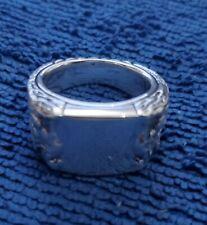 David Yurman signet ring sterling silver size 8.5