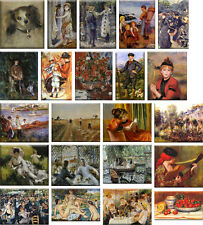 22 Fridge magnets - paintings by famous artist Pierre-Auguste Renoir