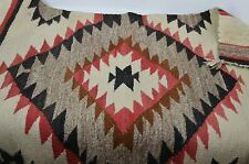 Hand Woven Wool Rug Stunning 48 X 30 Beautiful Pattern Gorgeous Authentic