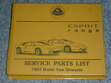 1998 Lotus Esprit Service Parts List Repair Manual S4 S4s Sport 300 V8 SE GT