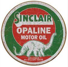 "SINCLAIR DINO GASOLINE metal tin sign Look Round 12"" Garage home Decor"