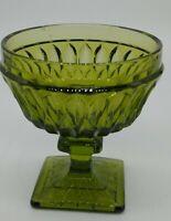 1 Indiana Glass Green Mt. Vernon Footed Sherbet/Dessert Goblets EUC