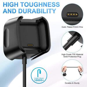For Fitbit Versa / Versa Lite / Versa 2 USB Charging Power Charger Dock Cradle;