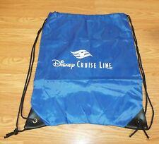 Genuine Disney Cruise Line Blue Nylon Thin Draw String Back Pack Bag *Read*