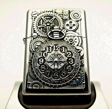 Rare Zippo Lighter - WATCH WHEELS AND COGS - Heavy plate Time piece clock ZIPPOS