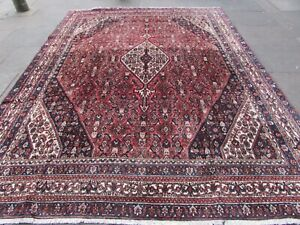 Vintage Hand Made Traditional Oriental Wool Red Blue Large Carpet 333x255cm