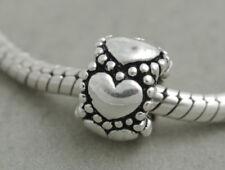 HANDMADE .925 SILVER EUROPEAN Charm Bead for Bracelet H65 EVERLASTING LOVE HEART