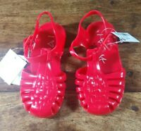 GIRLS RED JELLY SHOES JELLIES PLASTIC SANDALS BY NEXT SIZE 6 BRAND NEW WITH TAGS