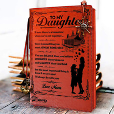 To My Daughter Leather Writing Journal From Mom Christmas Gift Ideas 2019 Dr