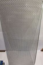 """20 GA. 1/4"""" HOLE ON 5/16"""" CENTERS  304 STAINLESS  PERFORATED SHEET---15"""" X 15"""""""
