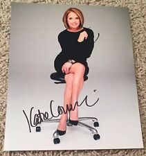 KATIE COURIC SIGNED AUTOGRAPH TODAY SHOW 60 MINUTES 8x10 PHOTO w/PROOF