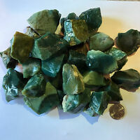 2000 Carat Lots of Green Jasper Rough + a FREE Faceted Gemstone