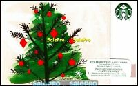 STARBUCKS COFFEE 2015 CANADIAN CHRISTMAS TREE BILINGUAL COLLECTIBLE GIFT CARD