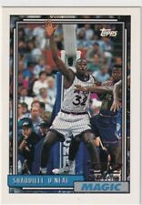 92/93 TOPPS SHAQUILLE O'NEAL RC ROOKIE #362