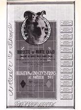 Marcel Duchamp Obligation pour la roulette de Monte-Carlo 1924 Reproduction 1973