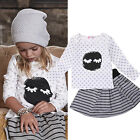 Toddler Kids Baby Girls Outfits Clothes T-shirt Tops+Short Dress Skirt 2PCS Sets