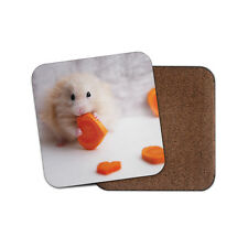 Cute Hamster Love Heart Cork Backed Drinks Coaster - Animal Lover #8297