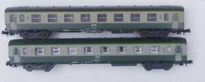 LIMA 2 VOITURES SNCF DEV FORESTIER 1ERE ET 2 EME CLASSE ECHELLE N  320883 320884
