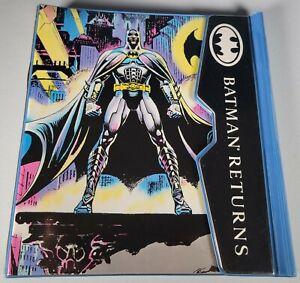 1991 Batman Returns Binder Finder Trapper Keeper with Catwoman Folder Impact DC