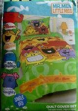 New Licensed The Mr Men Show Little Miss Single Quilt Cover Set kids EOFY sale