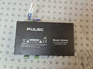 Pulse SDA40 Two Channel Amplifier, 20W RMS X 2Ch,