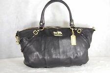 "COACH 15955  BLACK LEATHER ""MADISON""  SOPHIA SHOULDER/HAND BAG SATCHEL"