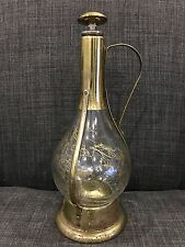 Decorative Round Glass Bottle Music Box with Gold Carrier Japan