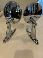 VINTAGE JOMA-2  PAIR OUTSIDE CHROME SIDE VIEW MIRRORS