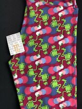 Brand New LuLaRoe Leggings Adult Tc (size 12-18) Disney- Kermit the Frog Print