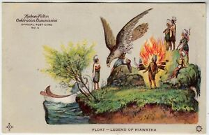 1919 HUDSON FULTON CELEBRATION - Float / Legend Of Hiawatha - vintage postcard