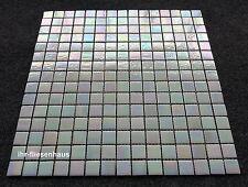 Glasmosaik - Mosaik Matte auf Netz Meta.-Helllachs 32,7x32,7cm; Steinchen 2x2cm