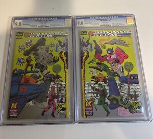 SDCC Comic Con 2014 Transformers VS. G.I. Joe #1 Exclusive Cover A & B CGC 9.8