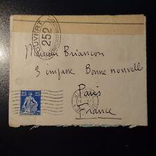 SUISSE SCHWEIZ LETTRE CENSURE MILITAIRE N°252 CENSOR COVER GENÈVE -> PARIS