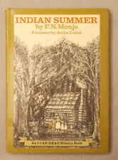1968 INDIAN SUMMER by Monjo I CAN READ HISTORY BOOK Anita Lobel DUST JACKET