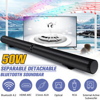 3in1 50W Wireless bluetooth Soundbar TV Theater Home Speaker Subwoofer Sound bar