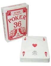 DAL NEGRO POKER ROSSE Mazzo 36 Carte da Gioco Poker Ramino Magia *Sped.Tracciata